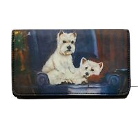 New Westie Zippered Pouch & Check Book Wallet by Ruth Maystead