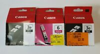 CANON BCI- 3E GENUINE Black x 2  Magenta x 1 INK CARTRIDGES Set 3 | NEW