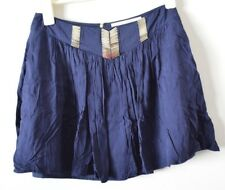 BLESSED ARE THE MEEK A line Circle Skirt 2 Small 6 8 Navy Blue Party Cocktail