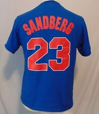 Ryne Sandberg #23 Chicago Cubs Mens M T- Shirt Majestic Cooperstown Collection
