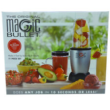 Magic Bullet 11 Piece Set Box Blender & Mixer Small Silver 250W Stainless Steel