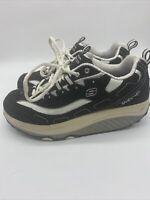 Skechers Shape Ups Women's Walking Toning Shoes Black White SN 11809 Size 9