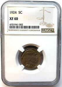 1924 5c Buffalo Nickel NGC Graded XF 40 002