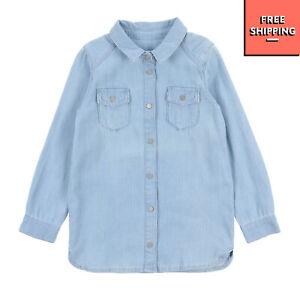 LITTLE REMIX Western Shirt Size 6Y Garment Dye Worn Look