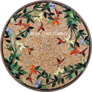 36'' Marble coffee Table Top Mosaic inlay pietradura handmade Work Home Decor