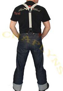 Hosenträger Vintage Y 30er 40er 50er Jahre Suspender für Raw Denim Jeans