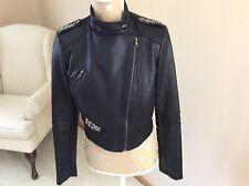 a0107b67c5cf33 Simon Chang Leather Like Size 6 Black Jacket NWT