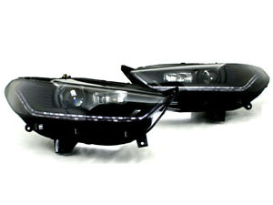 2013-2015 Ford Fusion Mondeo Black Bi-Projector Headlight w/ Sequential Signal