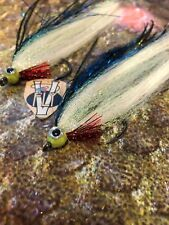 2 V Fly Size 2/0 HDD Ultimate Alphonse Surf Mackerel Baitfish Saltwater Flies