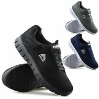 Mens Casual Lace Up Memory Foam Running Walking Sports Gym Trainers Shoes Size