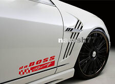 da BOSS Racing Vinyl Decal Sticker Sport Car Truck SUV emblem logo RED