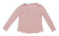 George Womens Size 10 Striped Cotton Pink Long Sleeve T-Shirt (Regular)