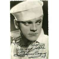 JAMES CAGNEY Original Signed Postcard  - 3,5x5,5 in. - 1977