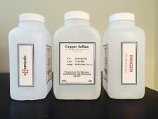 """Copper Sulfate """"CuSO4 5H2O"""" Minimum of 99.6% purity! 3 pounds in BOTTLES"""