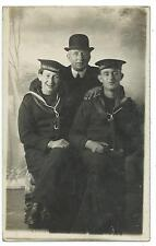 "SHIPPING - Royal Navy SAILORS in UNIFORM  ""H.M.S. ACHERON""  Real Photo Postcard"