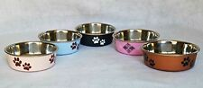 "NEW BELLA BOWLS SMALL PET BOWLS IN ASSORTED COLORS 5.5"" x 2"" DOG AND CAT DISH"