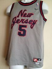 Authentic NIKE BRAND New Jersey Nets Kidd # 5 Jersey 1977 Rewind Youth M +2