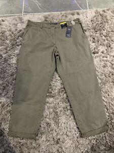 M&S 100% Cotton Khaki Chinos Trousers Size 16 Short Bnwt Free Same day Postage