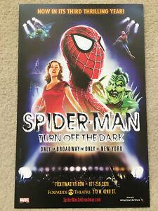 "SPIDERMAN: TURN OFF THE DARK New York Broadway Window Card Poster 14"" x 22"""