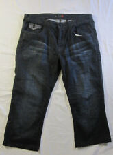 G by Guess Mens Wyatt Wide Boot Cut Jeans Button Fly Skull 36 x 24 Short Inseam