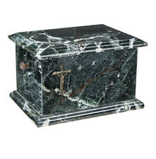 Stone Casket Natural Onyx with Cross Cremation Ashes Urn For Adult Ashes (ST10)
