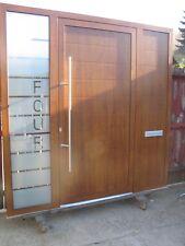 Aluminum Schuco door + 2 side panels + house number in the glass