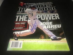 Jose Abreu Chicago White Sox Autographed Signed Sports Illustrated IMPERFECT