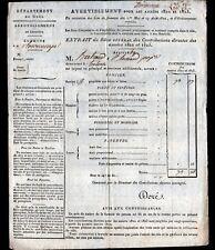 LECTOURE (32) IMPOT Taxe FONCIERE en 1822