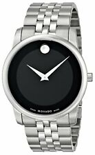 Movado Museum 606504 Black/Silver Stainless Steel Analog Quartz Men's Watch