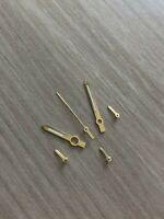 ETA Valjoux 7750 NOS Style Gold/Gold Zeigerset Chronograph Retro