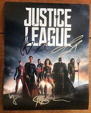Ben Affleck Jason Momoa Ezra Miller +2 Signed 11x14 Photo Poster Justice League