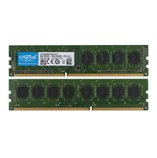 2PCS Crucial 8GB 8G PC3L 12800U 2RX8 DDR3 1600MHz Memory RAM DIMM For Desktop #D