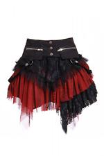 Gothic/steampunk Rock Schwarz/rot Vintage Gothic Punk Petticoat Gr. Xs/s/m/l