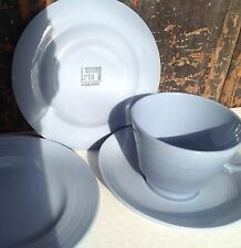 Woods ware Iris 2 plates and a larger size cup & saucer vintage 1940s