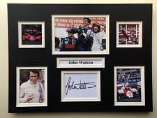 "Formula 1 John Watson Signed 16"" X 12"" Double Mounted Display"