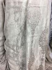 N29609 Stoff  Gardinen Deko Barock Vorhang  cappuchino-beige 2-seitig 280cm hoch