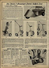 1957 PAPER AD Lou Farris Electric Golf Cart Riding Lawn Mower Type COOL