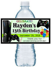 20 VIDEO GAMES BIRTHDAY PARTY FAVORS Water Bottle Labels xbox