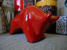 1960's Otto Fat Lava era bull, vintage West German mid century taurus horoscope