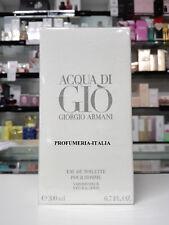 Profumo Giorgio Armani  ACQUA DI GIO eau de toilette 200ml - NUOVO E SIGILLATO -