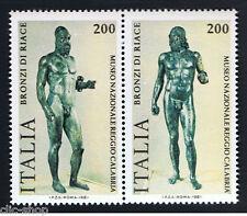 ITALIA 2 FRANCOBOLLI BRONZI DI RIACE 1981 nuovo**
