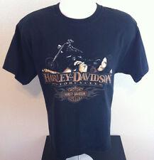 Harley Davidson T Shirt Men's Size L Eifle Tower Paris Texas Motorcycle Black