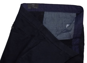 M&S Collection BNWOT Skinny Stretch Navy Blue Chinos 38W 29L