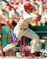 JUAN GONZALEZ SIGNED AUTOGRAPHED 8x10 PHOTO TEXAS RANGERS PSA/DNA