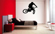 BMX Bike Boys Bedroom Bicycle VINYL WALL DECAL ROOM DECOR LETTERING STICKER ART