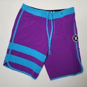 "Hurley Phantom Block Party Board Shorts Swim Surf Men's Size 29 X 8"" Purple"