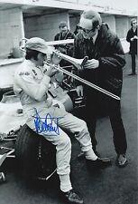 Jackie Stewart Hand Signed Elf Team Tyrrell F1 12x8 Photo.