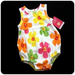 New/NWT~CARTERS~BUBBLE ROMPER~TERRY~BABY GIRLS~FLOWER~SPRING SUMMER~U PICK SIZE
