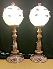 New listing Pair of Capodimonte Bouquet Style Lamps