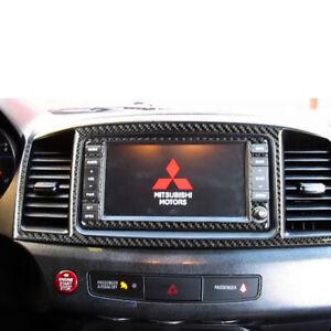 For Mitsubishi Lancer 2008-15 Carbon Fiber GPS Console Panel Cover Trim Sticke